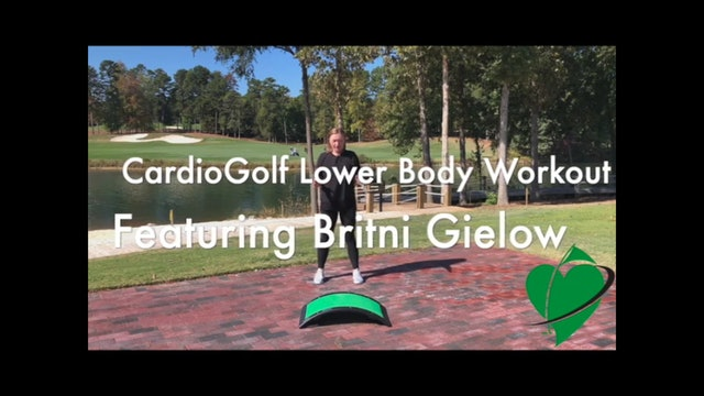 6-minute CardioGolf Lower Body Workout Featuring Britni Gielow