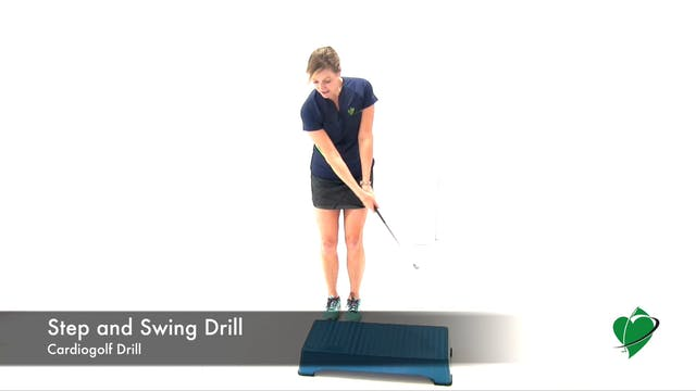 Step and Swing Drill