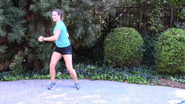 1-minute Side Shuffle with Twist