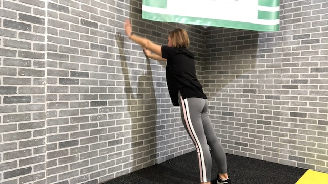 9:13 minute Wall Stretch Routine Featuring Britni Gielow