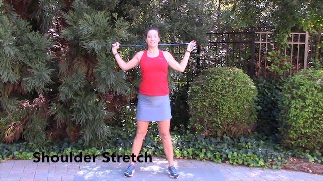 1-minute Golf Club Shoulder Stretch