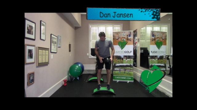 30-second Dan Jansen Reach with Squat