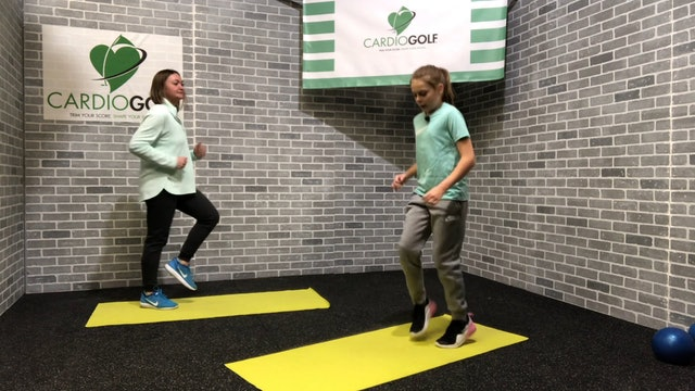 12:31-minute Total Body Fun Workout for Junior Golfers Featuring Britni Gielow