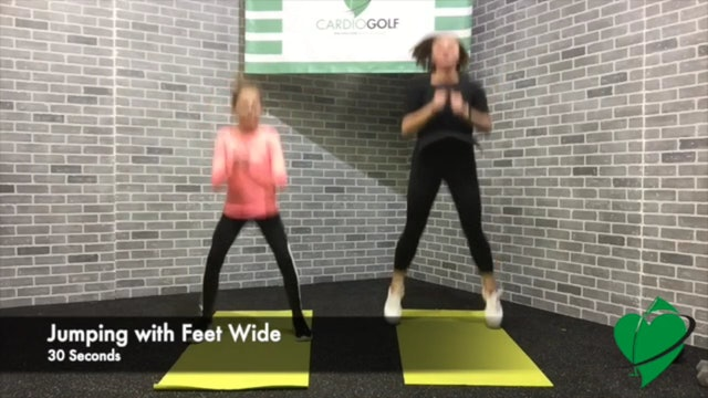 22:44 minute Junior Golf Fitness Workout (Fun Skills) Featuring Britni Gielow
