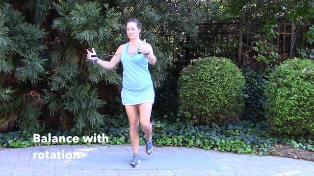 1-minute Balance with Rotation