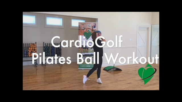 6-minute CardioGolf Pilates Ball Workout Featuring Britni Gielow