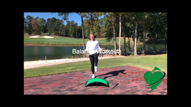 9-minute CardioGolf Balance Workout Featuring Britni Gielow