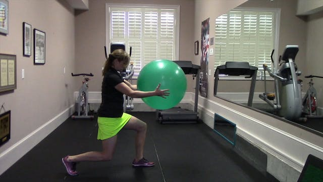 1-minute Reverse Lunge with Twist