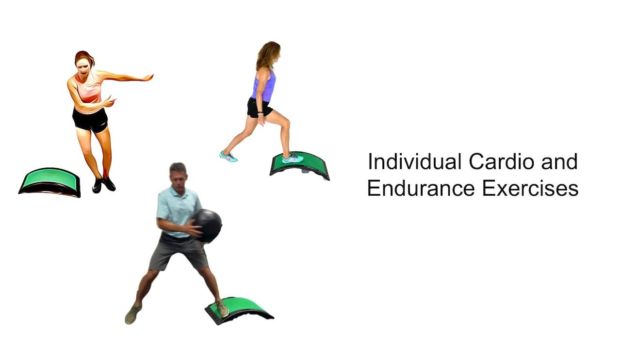 Individual Cardio and Endurance Exercises