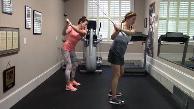 1-minute  Backswing Squat Drill