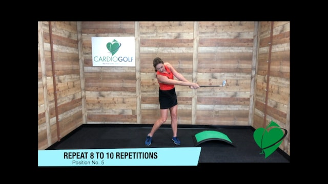 9-minute CardioGolf Swing Positions-Groove Your Swing