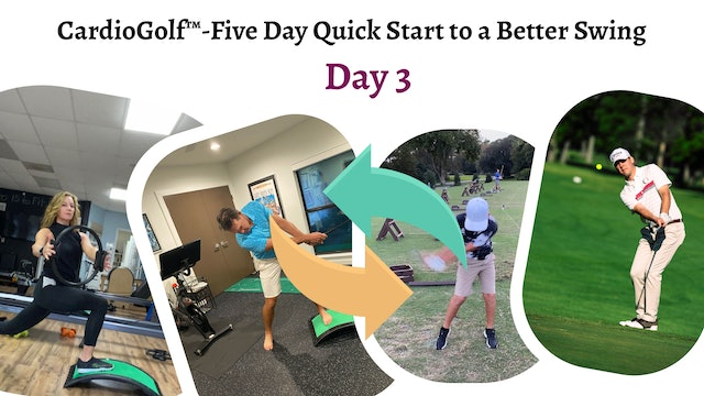 Day 3-CardioGolf™-Five Day Quick Start to a Better Swing!