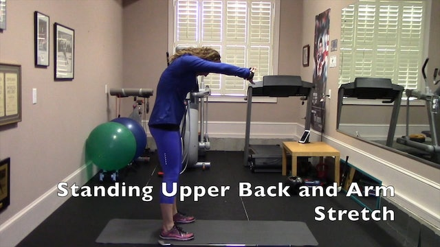 1-minute Standing Upper Back and Arm Stretch