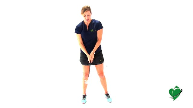 1-minute CardioGolf Swing Position No. 2