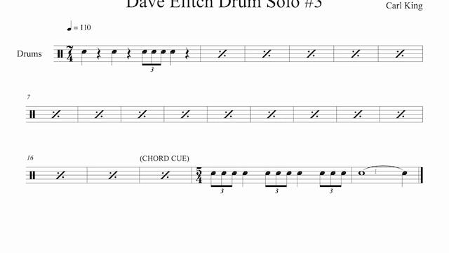 Preparing Drum Charts For Thomas Lang and Dave Elitch