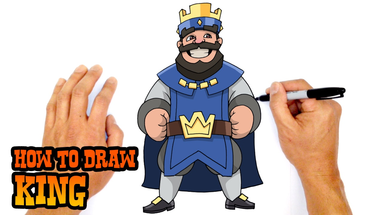 how to draw clash royale mega knight