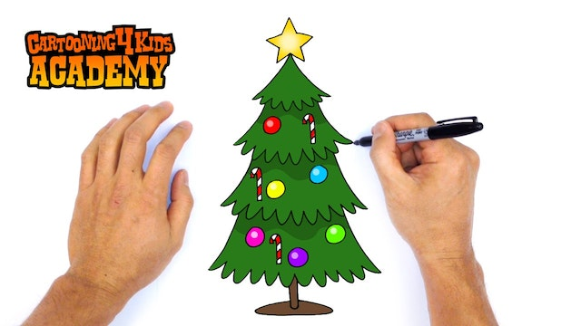 how to draw a christmas tree - How To Draw A Christmas Elf