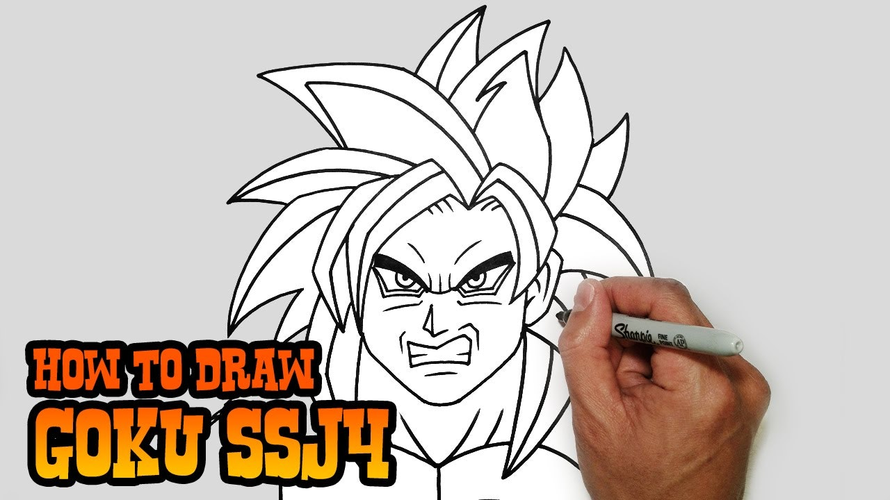 how to draw goku ssj 3