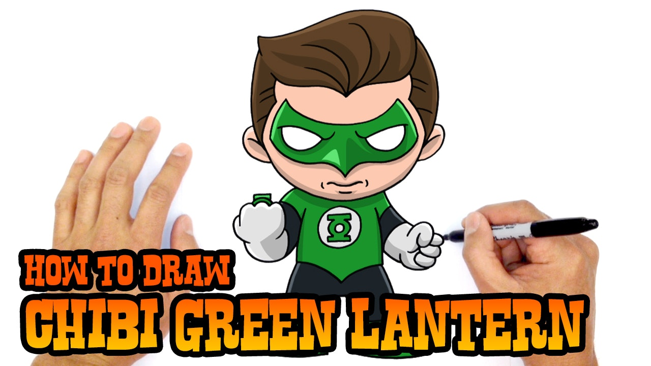 How To Draw Chibi Green Lantern