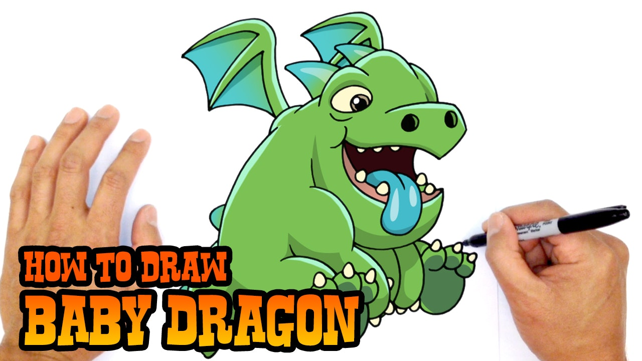How To Draw Baby Dragon Clash Royale Video Game