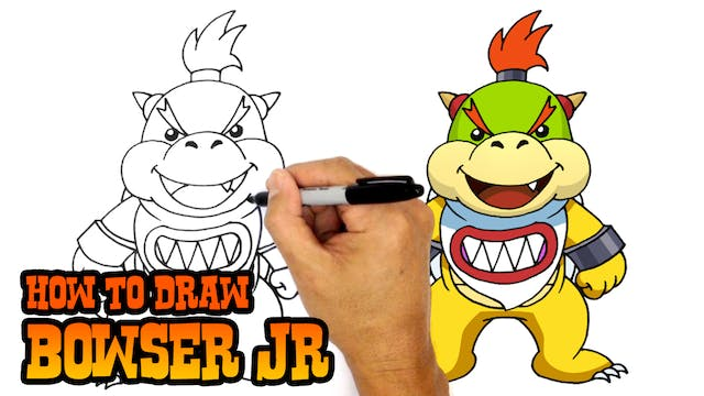 How To Draw Toad Super Mario Video Game Characters C4k Academy