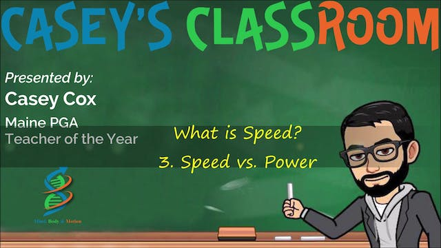 3. Speed Vs. Power