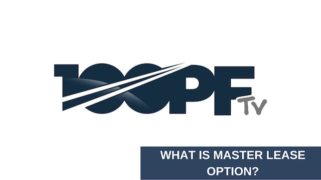 What's A Master Lease Option