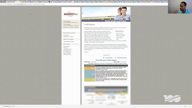 Access Credit Report by Using Identit...