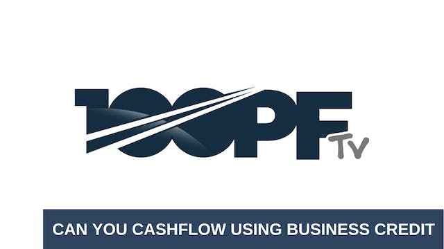 Can you cashflow using business credit
