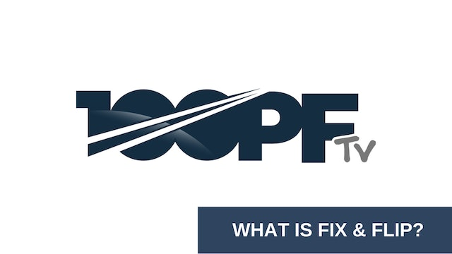 What Is Fix And Flip
