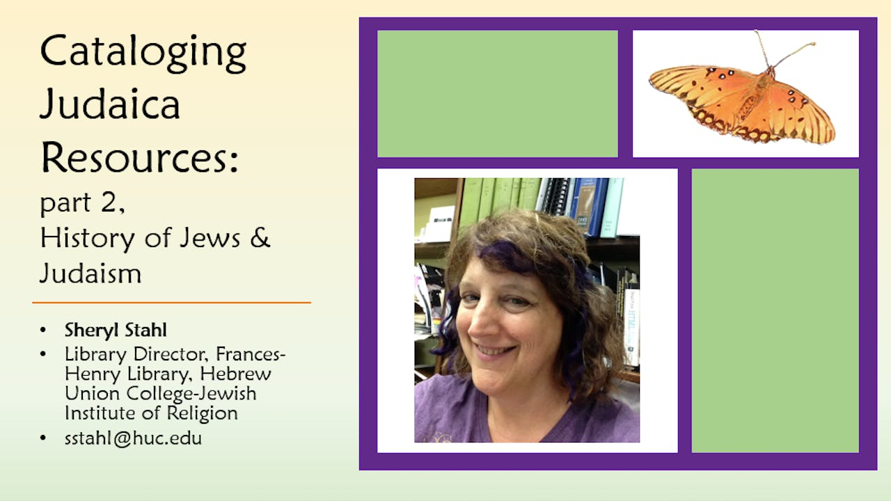 Cataloging Judaica, part 2, Diving into History