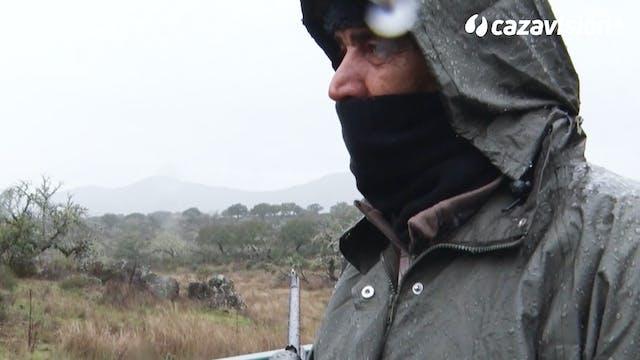 Montería con lluvia en La Ribera