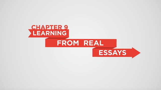 chapter 9 learning from real essays