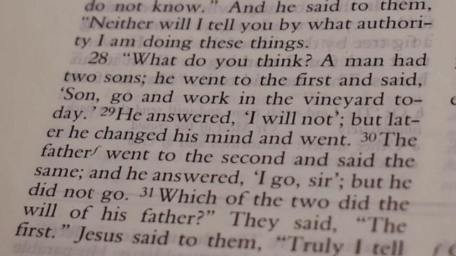 Dr. Roger Hahn: Matthew 21:23-32