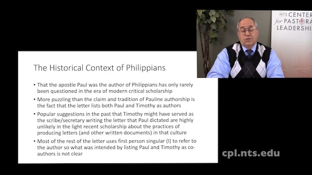Dr. Roger Hahn: Preaching Paul's Letter to the Philippians