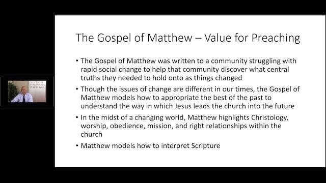 Dr. Roger Hahn: Preaching Matthew