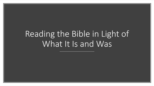 Dr. Roger Hahn: Reading the Bible in ...