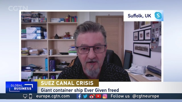 Suez Canal: Fear of delays at Europe's ports as backlog starts moving