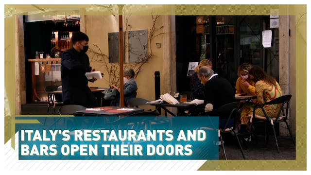 Italy's restaurants and bars open the...