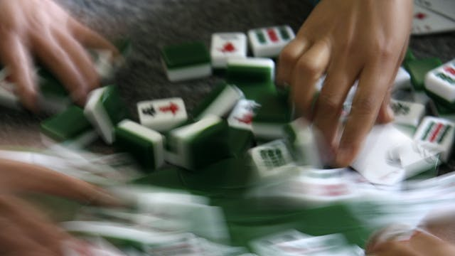 Mahjong, Old World game from China dr...