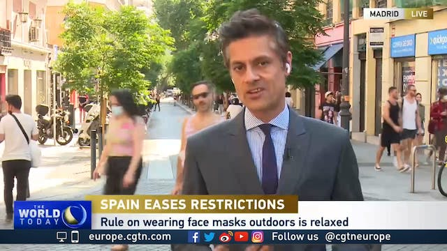 Spain ditches face masks for smiles o...