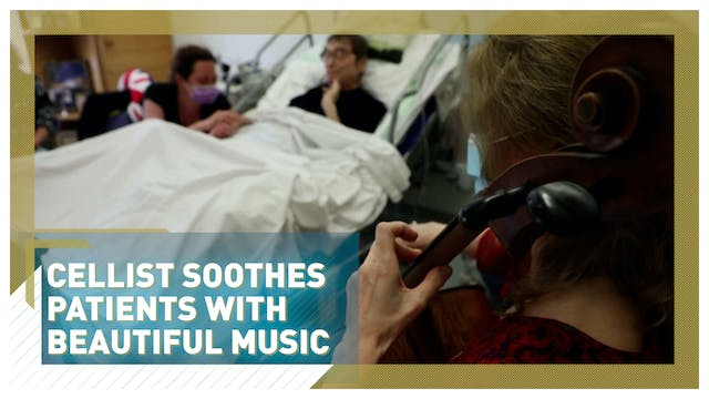 Cellist soothes patients with beautif...