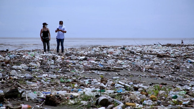 Islands of plastic floating off the coasts of Central America