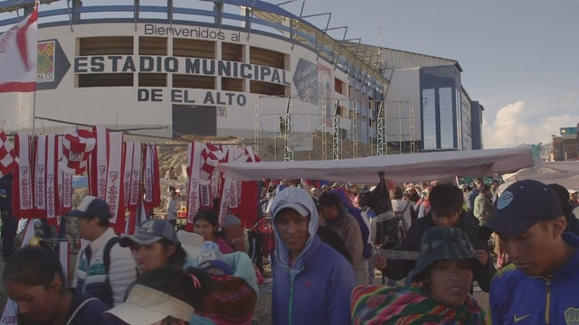 World's highest stadium
