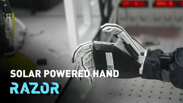 Solar powered hand - the prosthetic that returns the sense of touch - #RAZOR