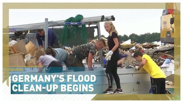 Germany's flood clean-up begins