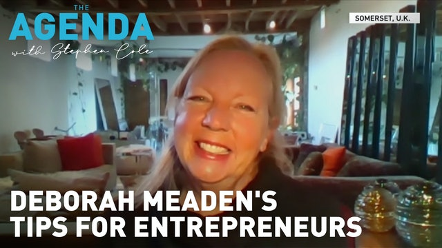 From florist to fiery entrepreneurial dragon  - #TheAgenda with Stephen Cole