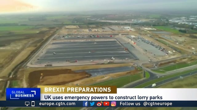 Brexit preparations - Dozens of lorry...