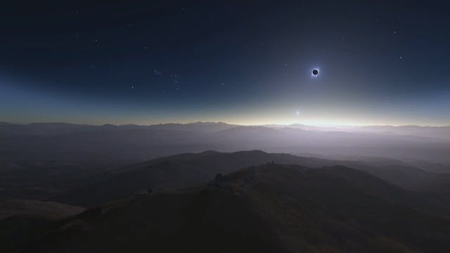 Solar eclipse view in Chile