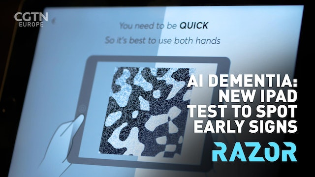 #RAZOR - AI DEMENTIA: New iPad test to spot early signs
